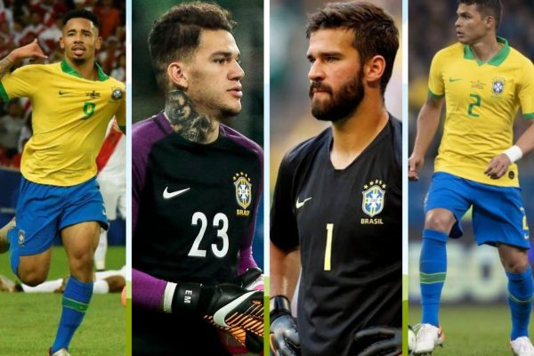 Brazil has summoned eight Premier League players for October World Cup qualifiers.